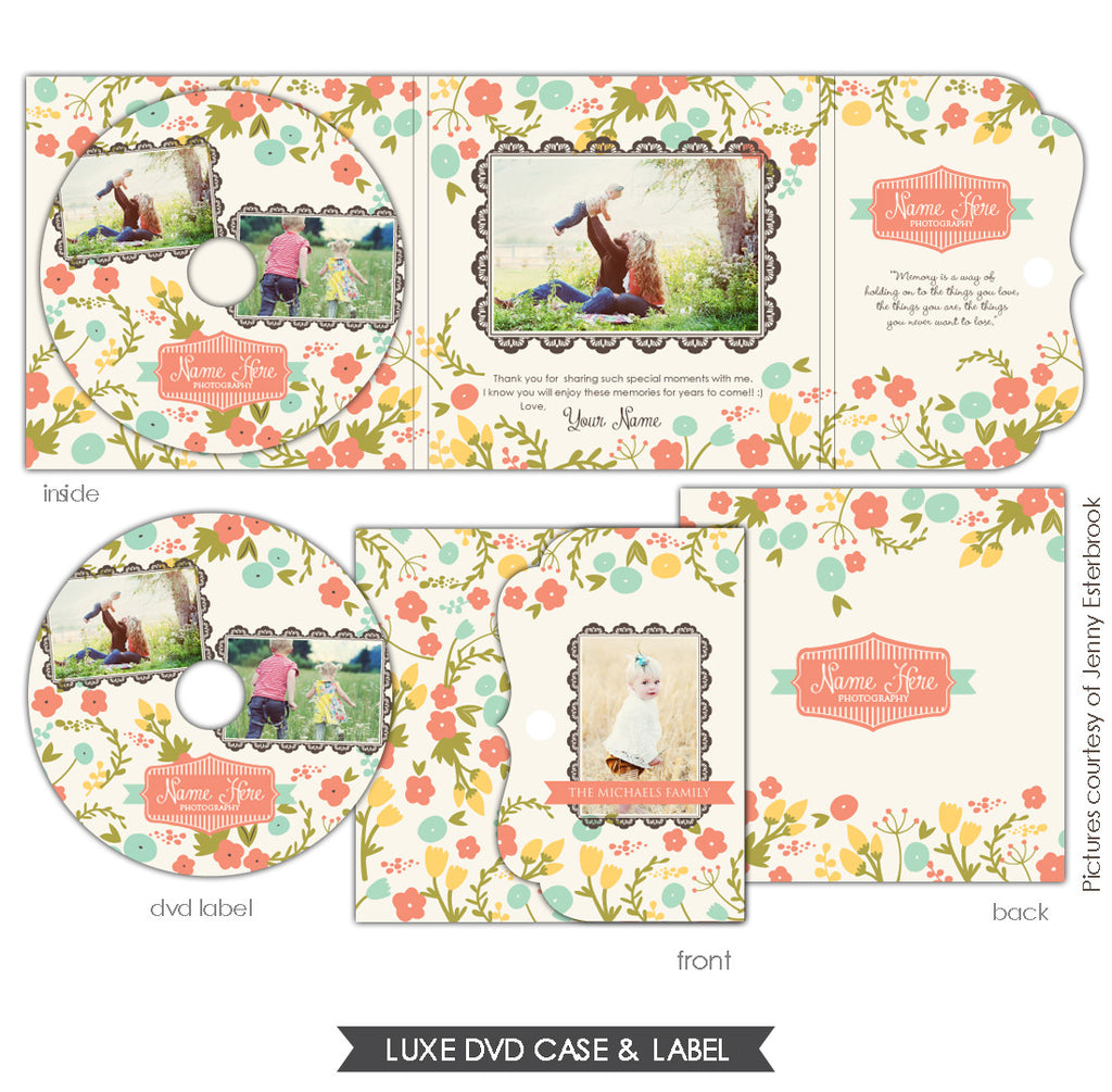 Luxe DVD case and DVD label | French garden