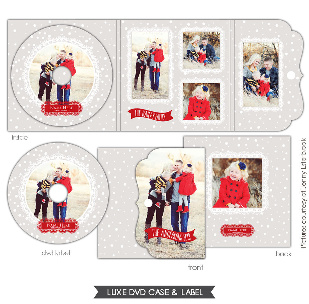Luxe DVD case and DVD label | Let it snow