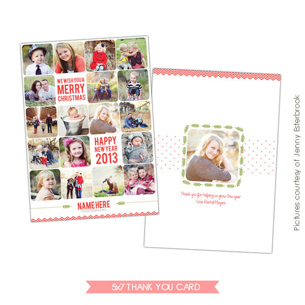 Holiday Thank you Card & Newsletter | Year of pics