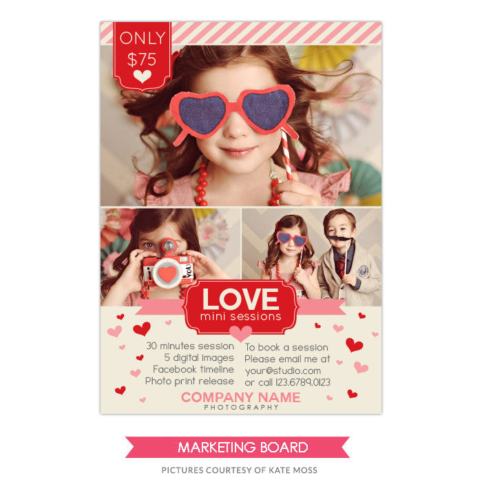 Photography Marketing board | Love minis