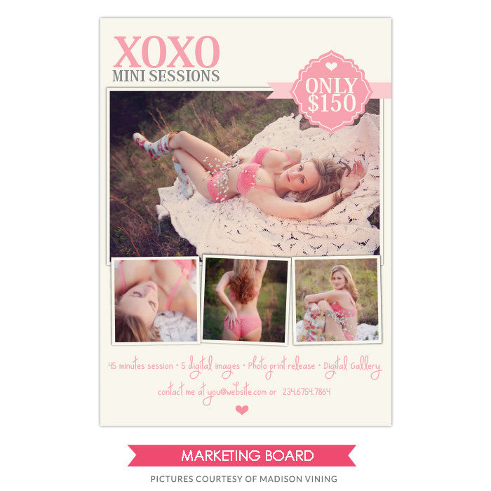 Photography Marketing board | Xoxo Boudoir