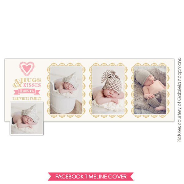 Facebook timeline cover | Baby kisses