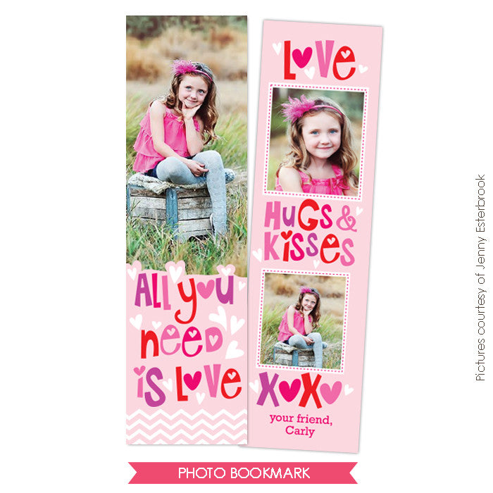 Valentine Bookmark template | Crazy friends