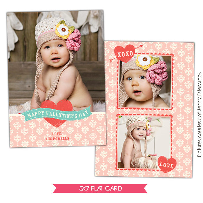 Valentine Photocard Template | Little cupid