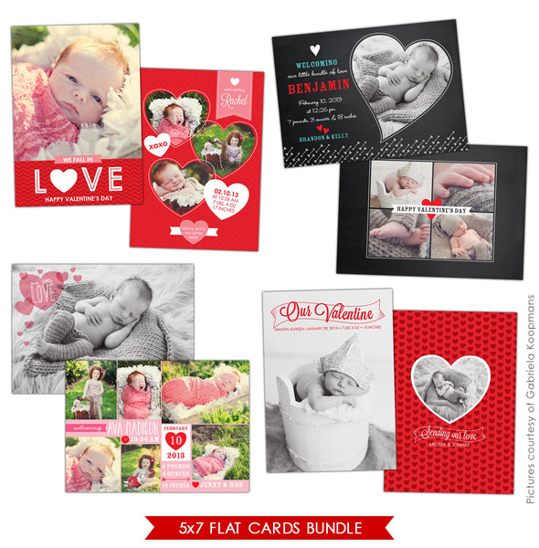 Valentine Birth Announcements Bundle | Love surprises
