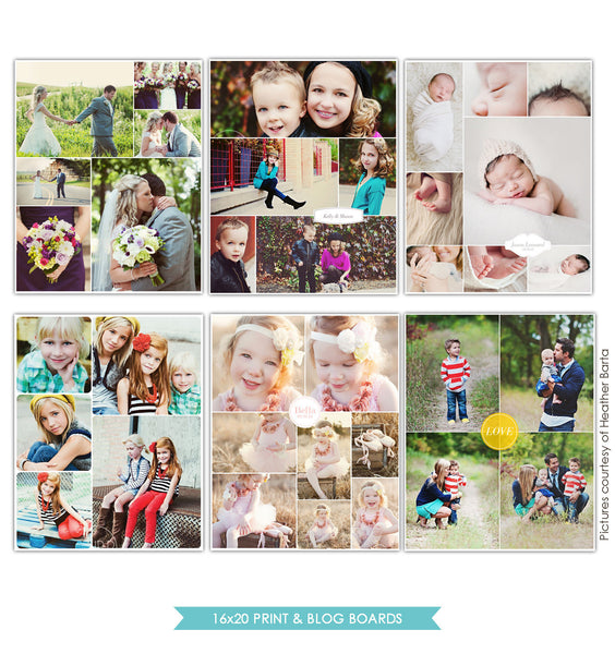 16x20 collages & blog boards bundle | Keep it simple