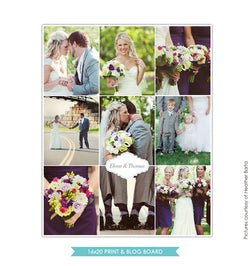 16x20 collage & blog board | Inspirational wedding