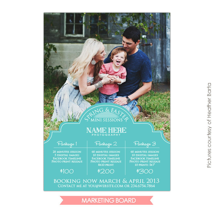 Photography Marketing board | Portrait style
