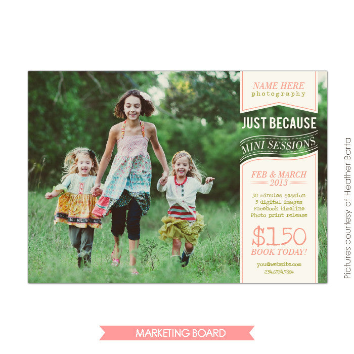 Photography Marketing board | Just because