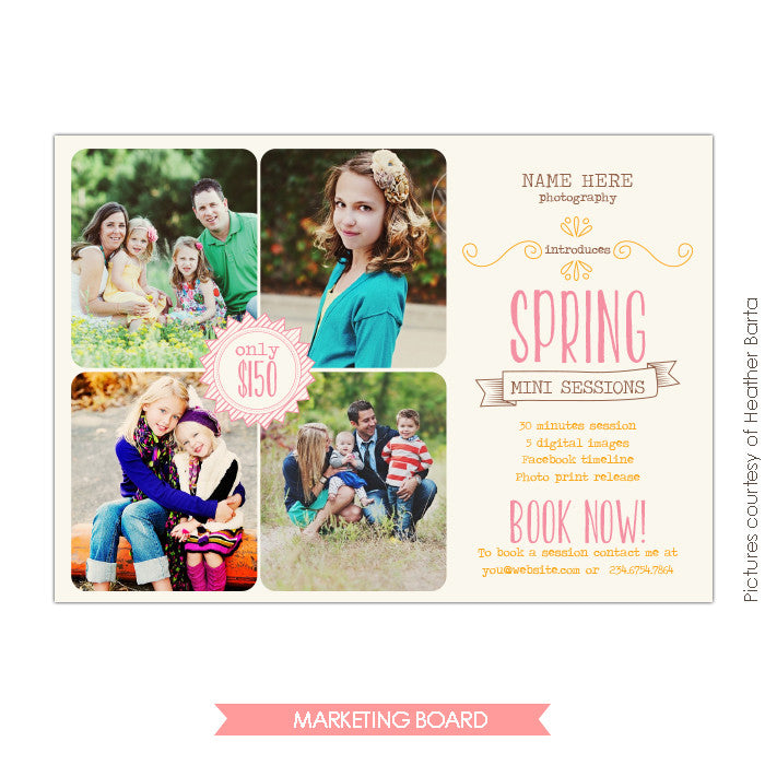 Photography Marketing board | Hand draw easter