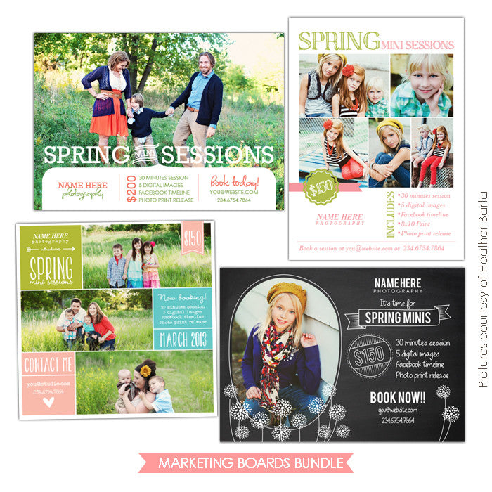 Photography Marketing boards | Spring simplicity