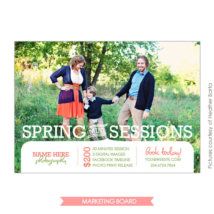Photography Marketing board | Fresh spring