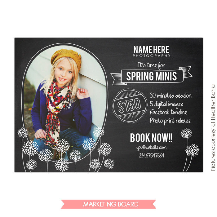 Photography Marketing board | Poppy garden