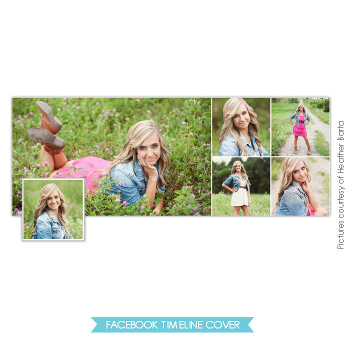 Facebook timeline cover | Senior collage