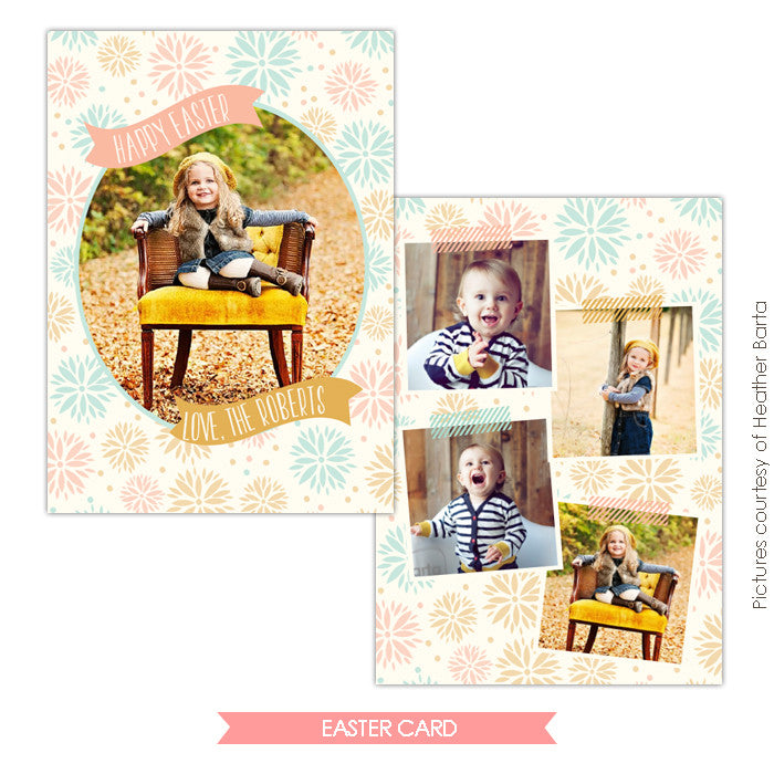 Easter photo card | Blooming day