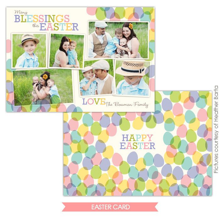 Easter photo card | Blessed family