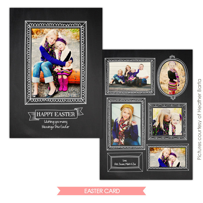 Easter photo card | Spring portraits