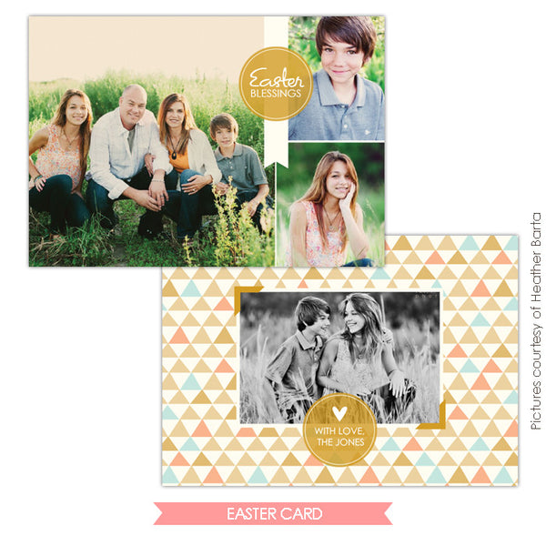 Easter photo card | Modern family