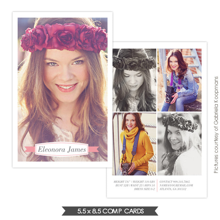 Modeling comp card leonora birdesign for Free model comp card template psd