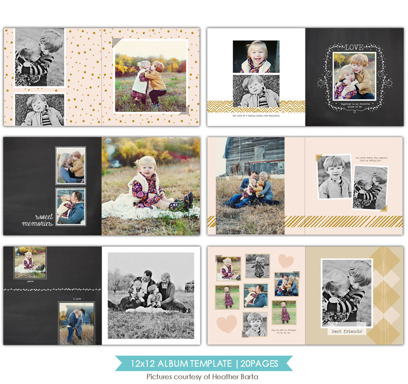 Free spirits | 12x12 Album template