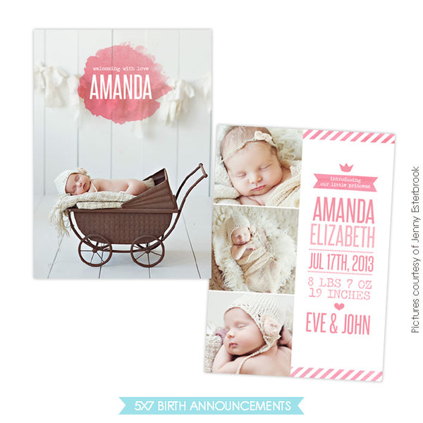 Birth Announcement | Princess Amanda