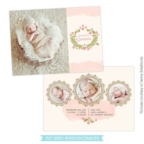 Birth Announcement | Classic beauty