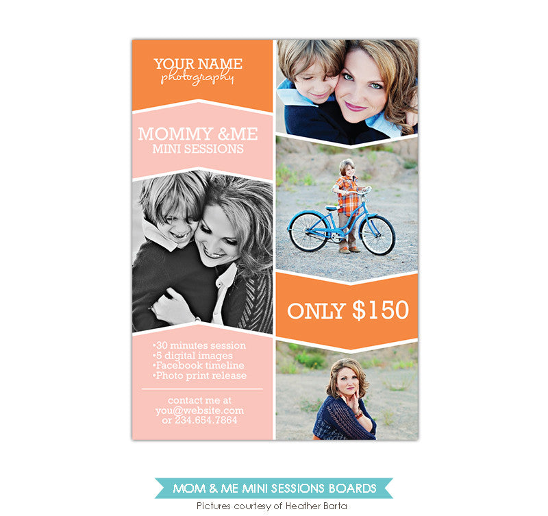 Photography Marketing board | Mom Smiles
