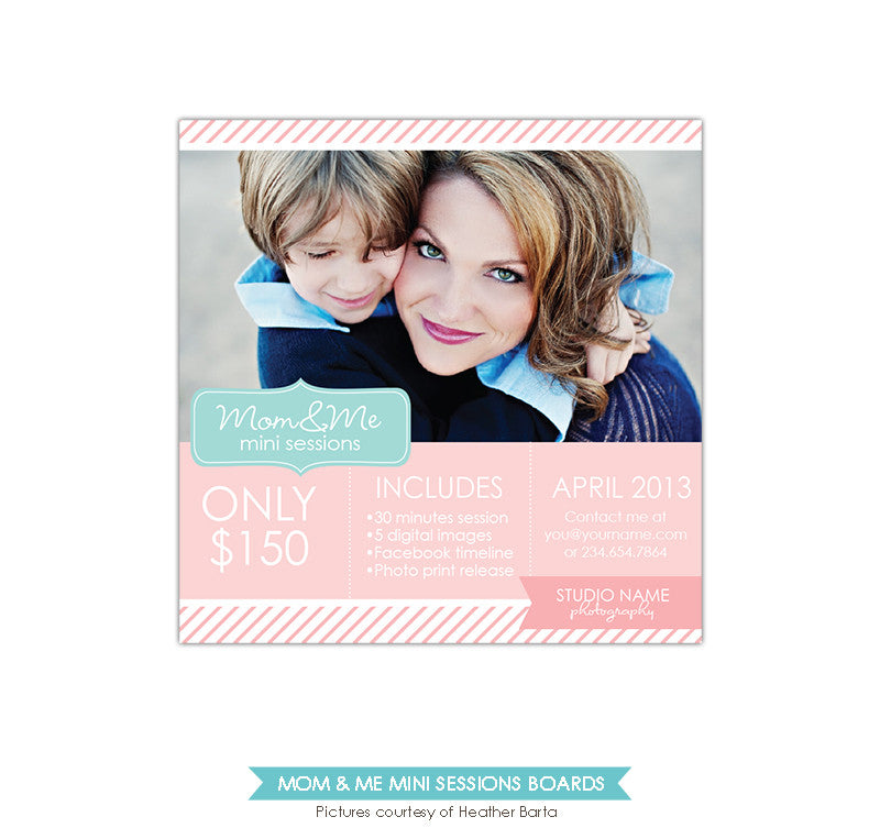 Photography Marketing board | Pink stripes