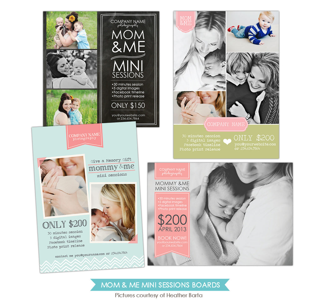 Photography Marketing boards | Modern mom