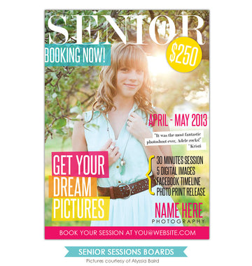 Photography Marketing board | Senior Cover