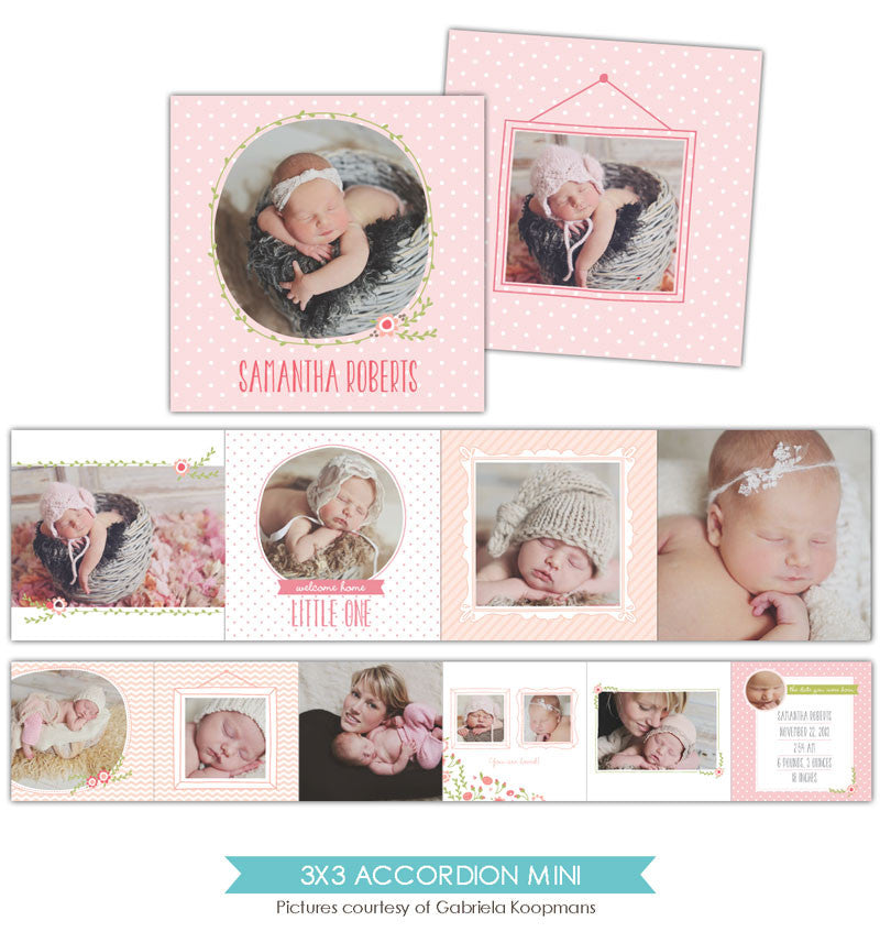 Baby accordion mini 3x3 | Bundle of love