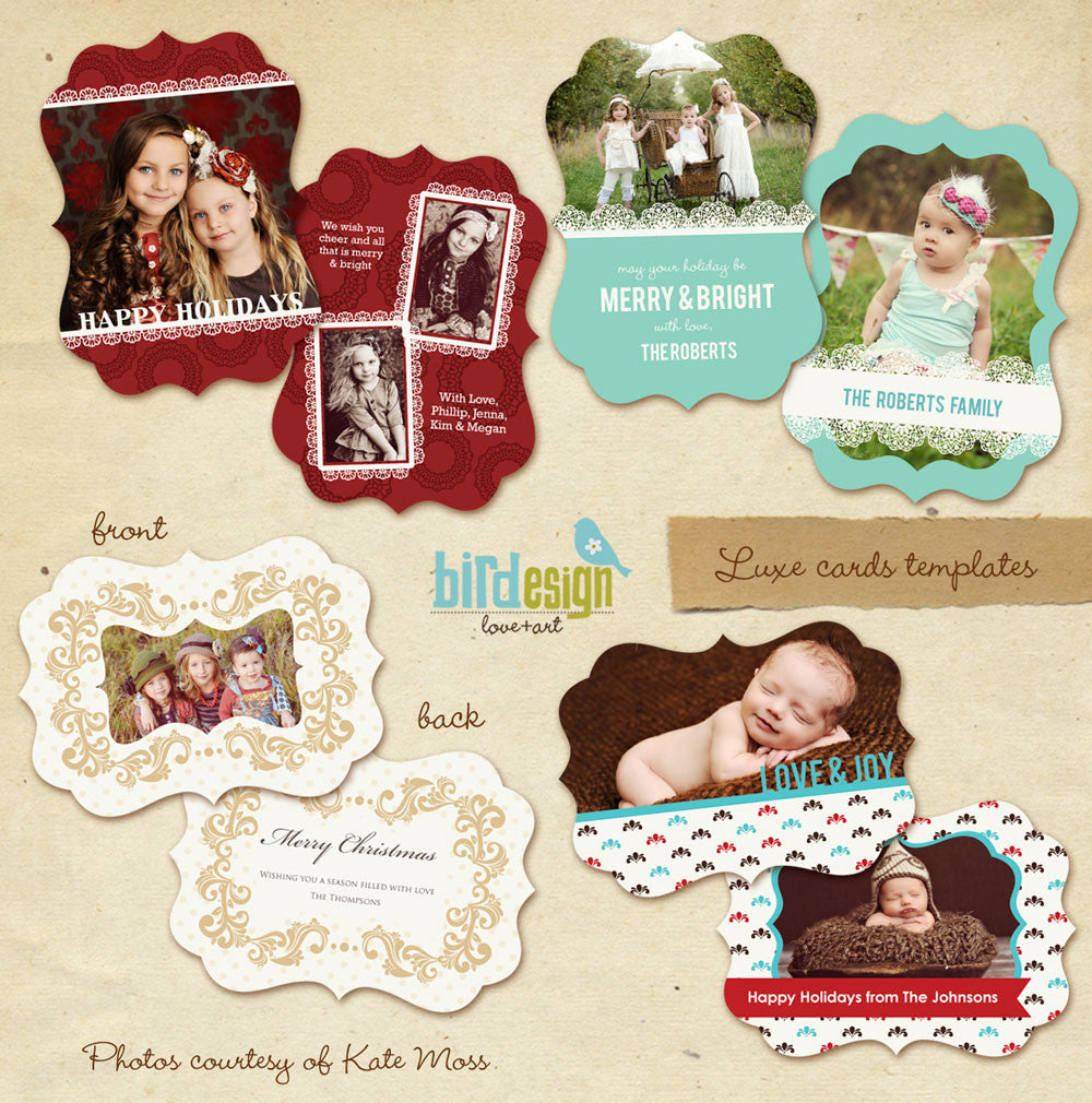 Holiday Ornate Photocard | Chic elegance