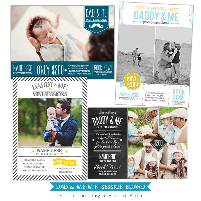 Photography Marketing boards | Dad & Me