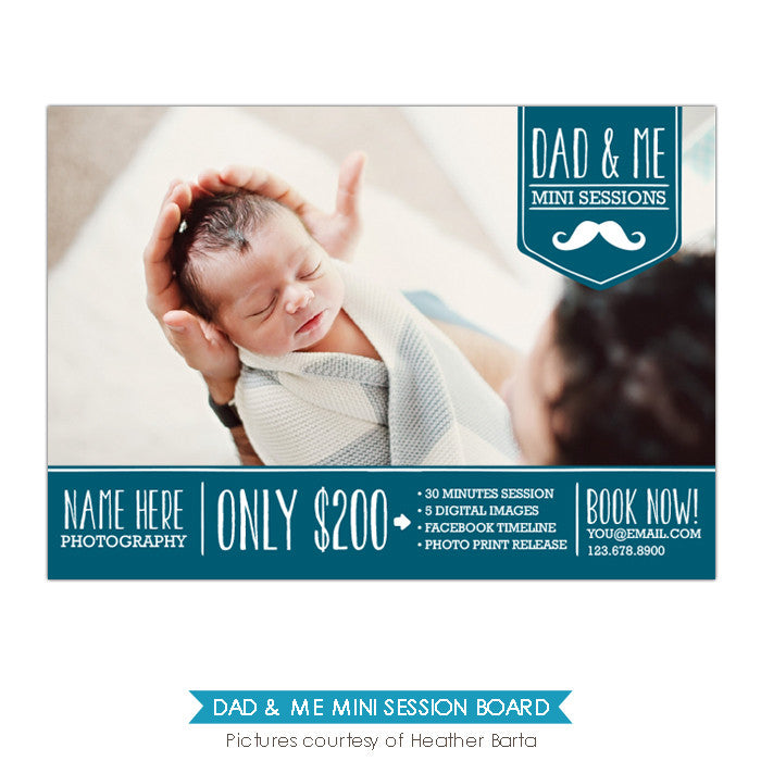 Photography Marketing board | Moustache Daddy