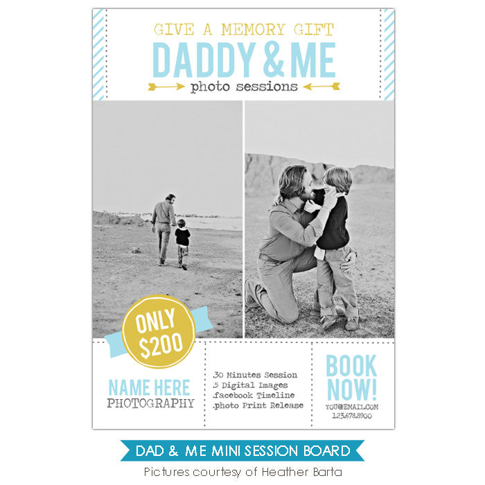 Photography Marketing board | Daddy & Me
