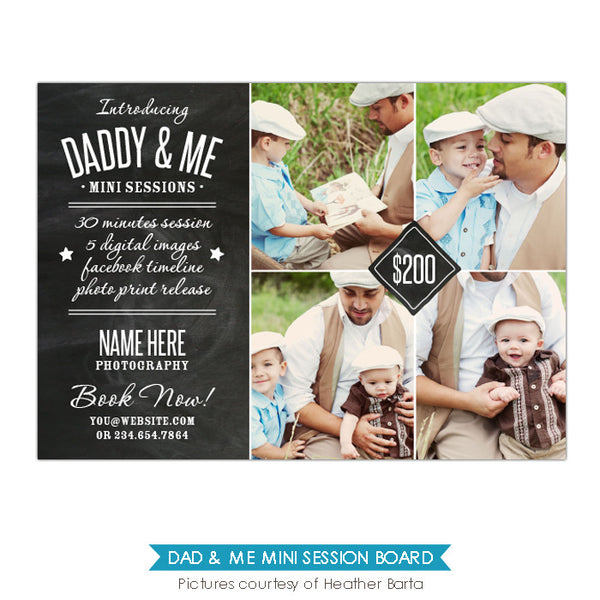 Photography Marketing board | Daddy time