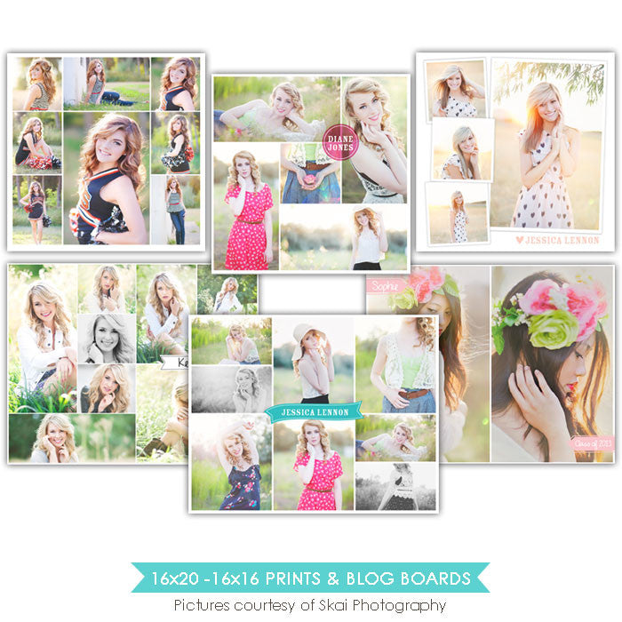16x20 and 16x16 collages & blog boards bundle | Photoblogger