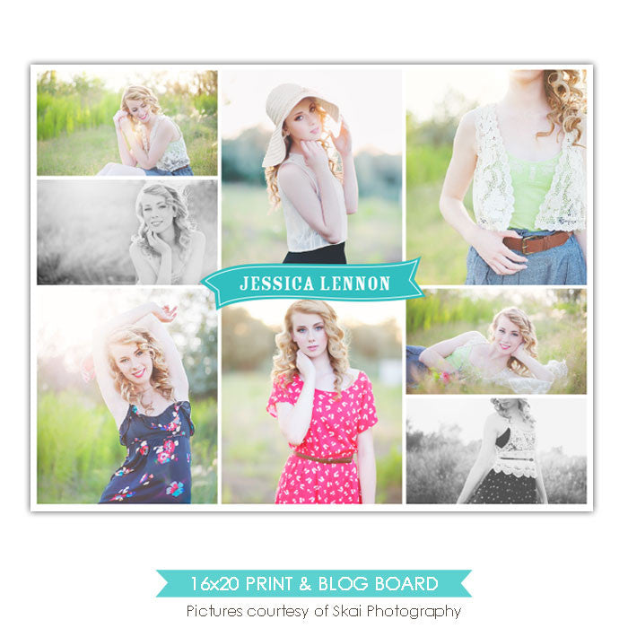 16x20 collage & blog board | Spring board