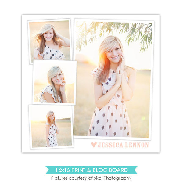 16x16 collage & blog board | Sweet smile