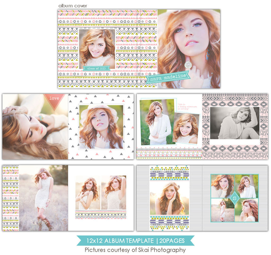 Inspiring days | 12x12 Senior Album template