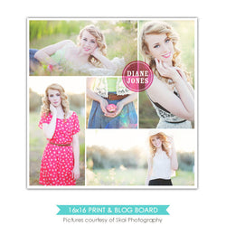 16x16 collage & blog board | Chic circle