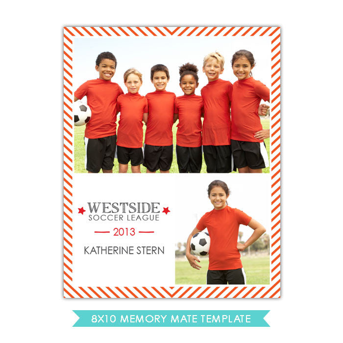 8x10 Memory Mate | Soccer friends