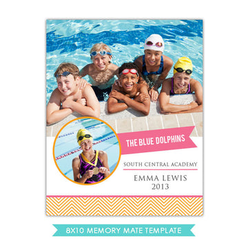 8x10 Memory Mate | Swim team