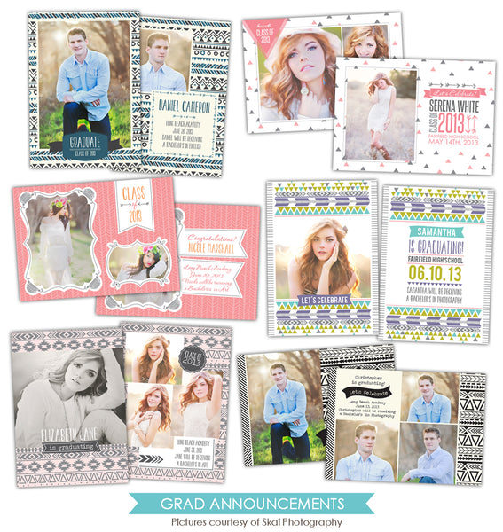 Grad announcements bundle | Indie dreams