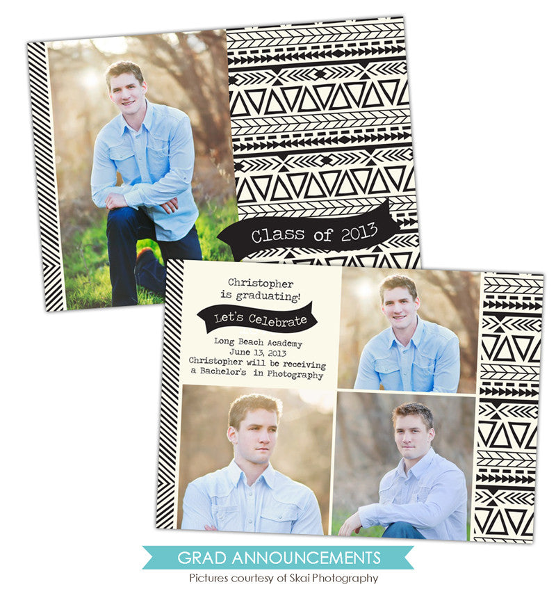 Grad announcement | Painted pattern