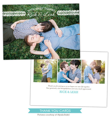 Wedding Thank You Card | White banner