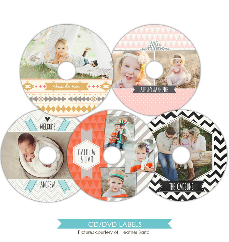 CD labels set | Charming memories