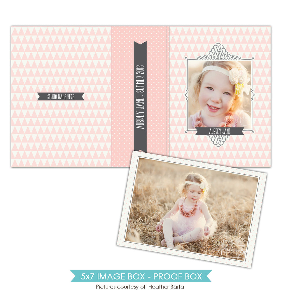 5x7 Image Box | Pink triangles
