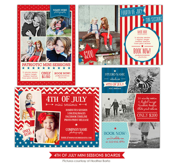 4th of July Marketing boards | Patriotic Pics
