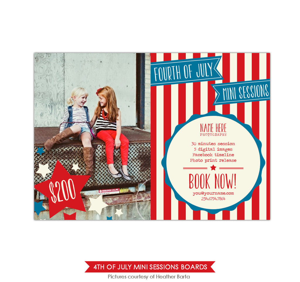 4th of July Marketing board | Festive stars
